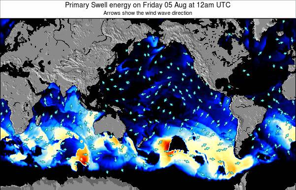 Global-Pacific Primary Swell energy on Monday 20 May at 12pm UTC