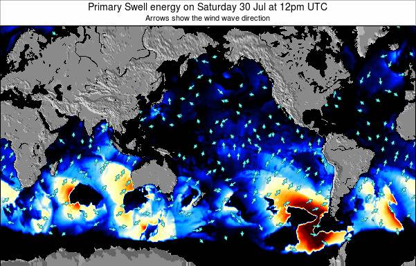 Global-Pacific Primary Swell energy on Friday 31 May at 6am UTC