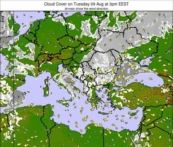 Greece Cloud Cover on Sunday 16 Mar at 2pm EET