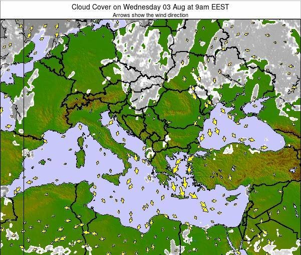 Greece Cloud Cover on Friday 28 Oct at 9pm EEST