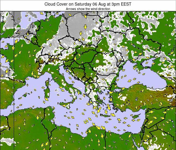 Greece Cloud Cover on Saturday 03 Sep at 9am EEST