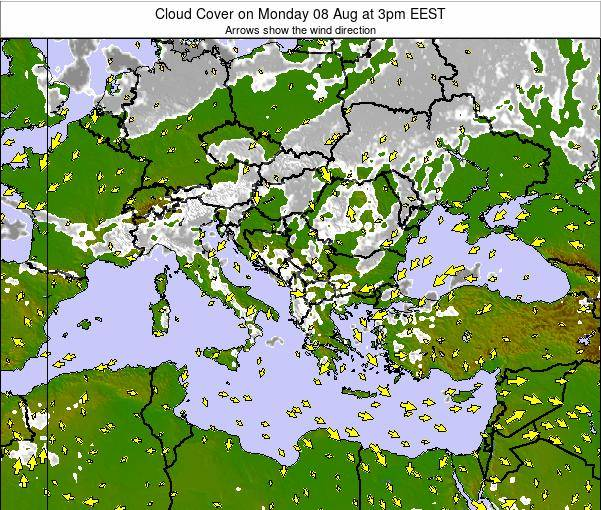 Greece Cloud Cover on Friday 14 Mar at 2pm EET