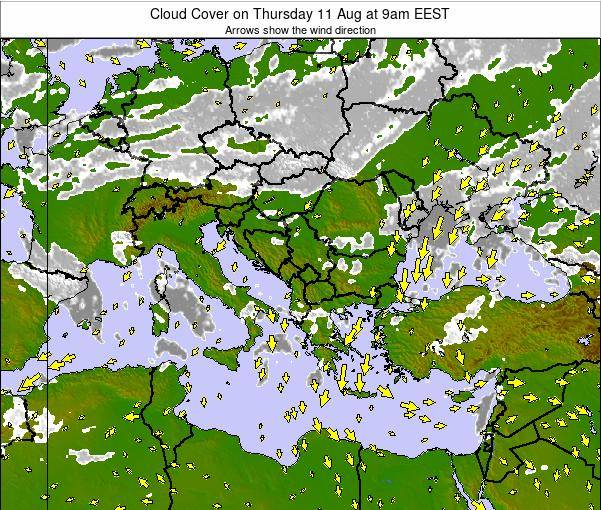 Albania Cloud Cover on Friday 30 Jan at 2am EET