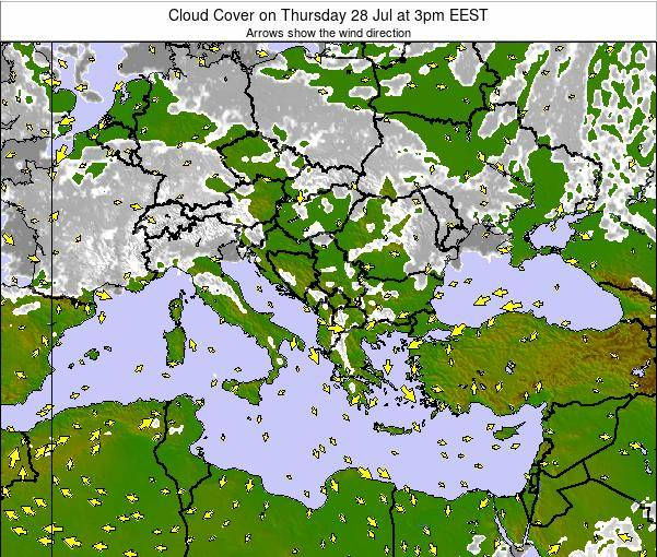 Albania Cloud Cover on Wednesday 03 May at 9pm EEST