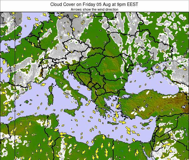 Albania Cloud Cover on Friday 14 Mar at 8pm EET