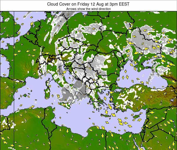 Albania Cloud Cover on Thursday 30 Oct at 3pm EEST