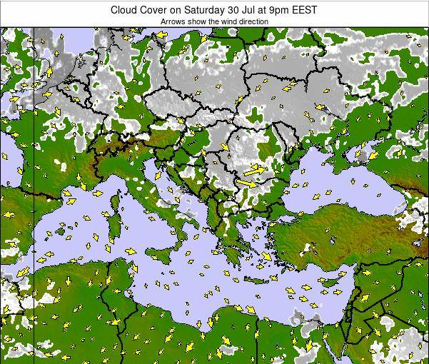 Albania Cloud Cover on Thursday 30 May at 9am EEST
