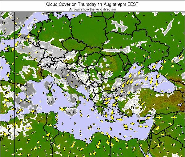 Albania Cloud Cover on Thursday 05 May at 9pm EEST