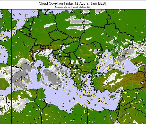 Albania Cloud Cover on Friday 31 May at 3pm EEST