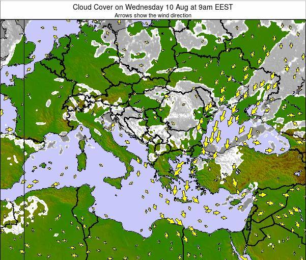 Albania Cloud Cover on Friday 31 May at 9pm EEST