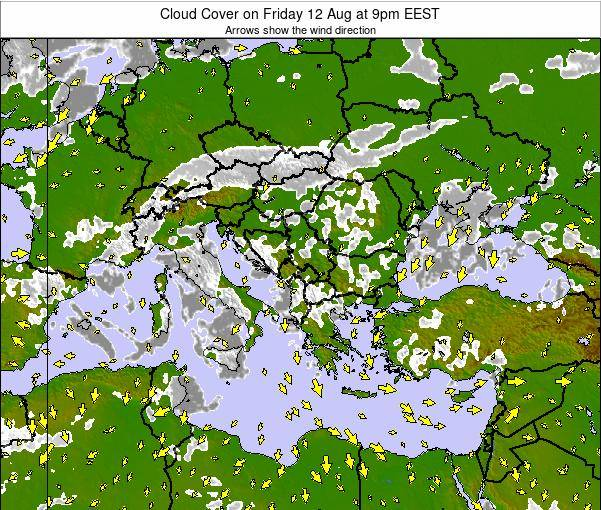 Albania Cloud Cover on Friday 27 Apr at 9am EEST map