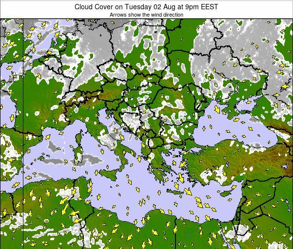 Albania Cloud Cover on Wednesday 22 May at 3pm EEST