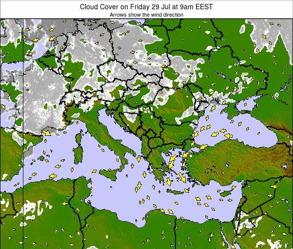Greece Cloud Cover on Saturday 29 Nov at 2am EET