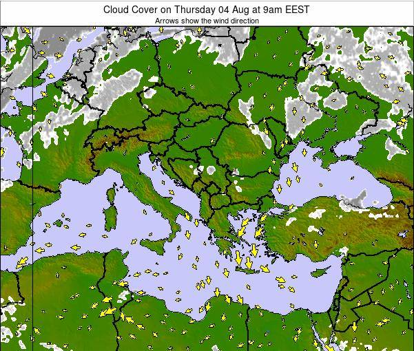 Greece Cloud Cover on Friday 06 Dec at 8pm EET