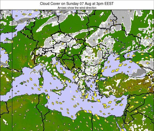 Greece Cloud Cover on Wednesday 29 Apr at 9am EEST