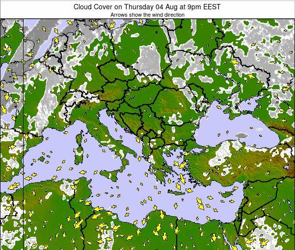 Bulgaria Cloud Cover on Monday 20 May at 9am EEST