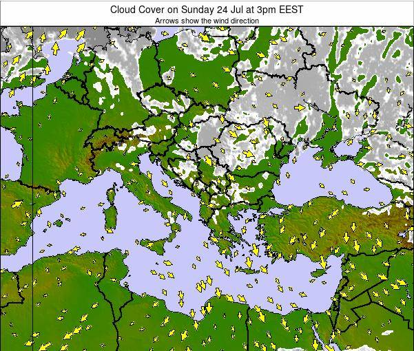 Bulgaria Cloud Cover on Tuesday 21 May at 3pm EEST