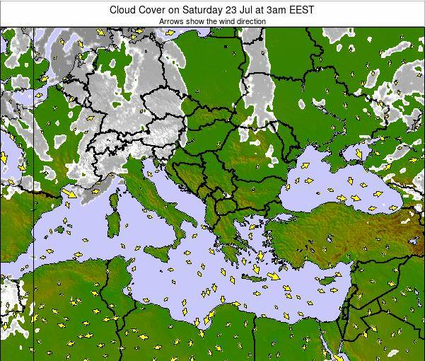 Greece Cloud Cover on Sunday 27 Apr at 3pm EEST