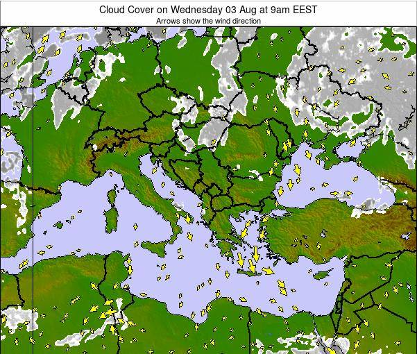 Greece Cloud Cover on Tuesday 21 May at 3pm EEST