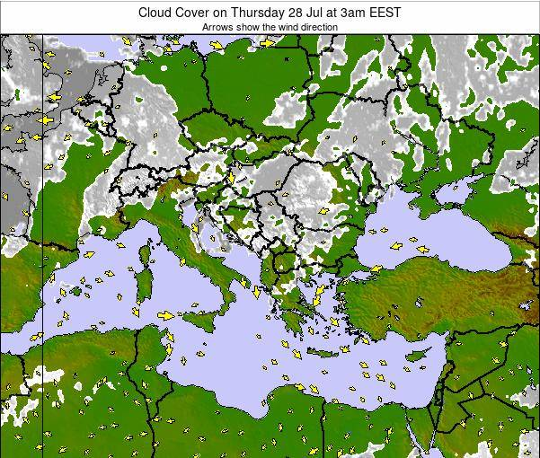 Greece Cloud Cover on Saturday 14 Dec at 8am EET
