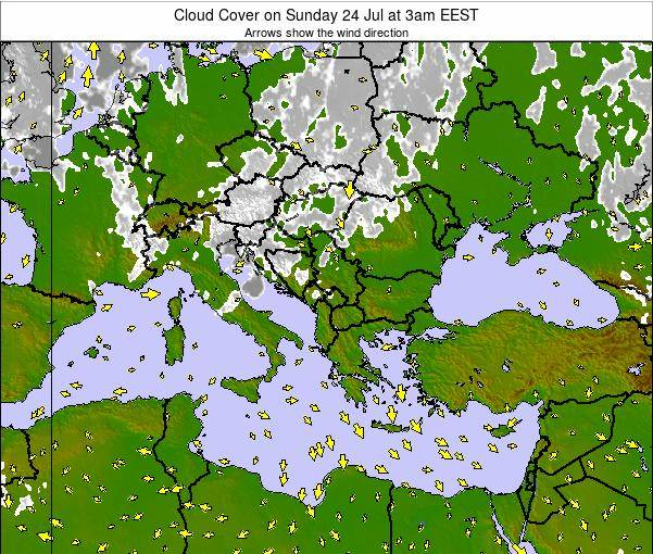 Greece Cloud Cover on Monday 30 May at 3am EEST