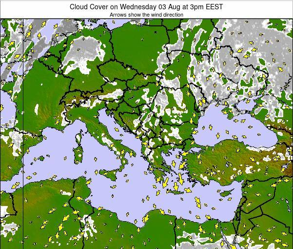 Albania Cloud Cover on Sunday 20 Apr at 3am EEST