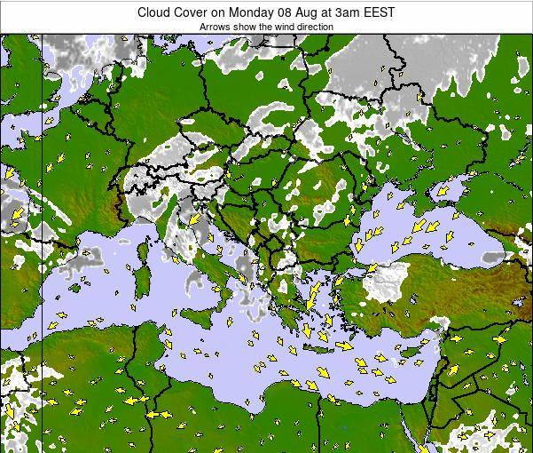 Albania Cloud Cover on Monday 27 May at 3am EEST