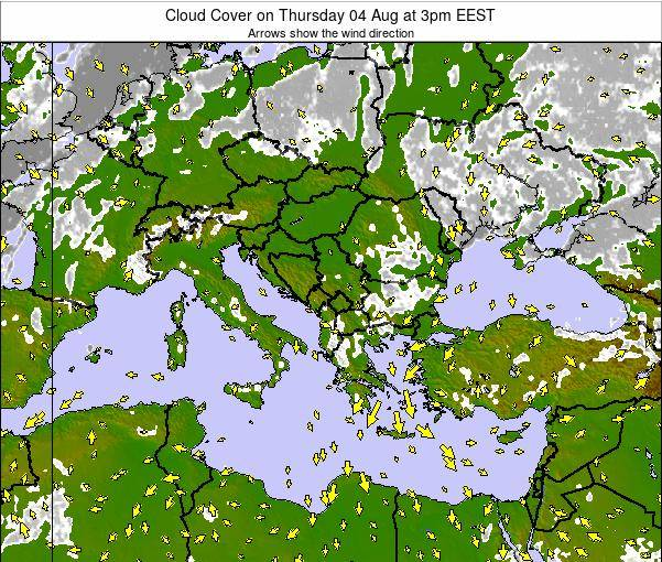 Albania Cloud Cover on Friday 28 Nov at 2am EET