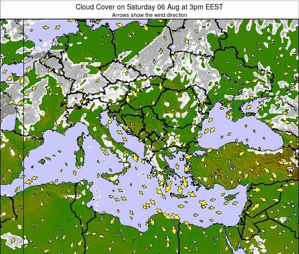 Albania Cloud Cover on Sunday 26 May at 9pm EEST