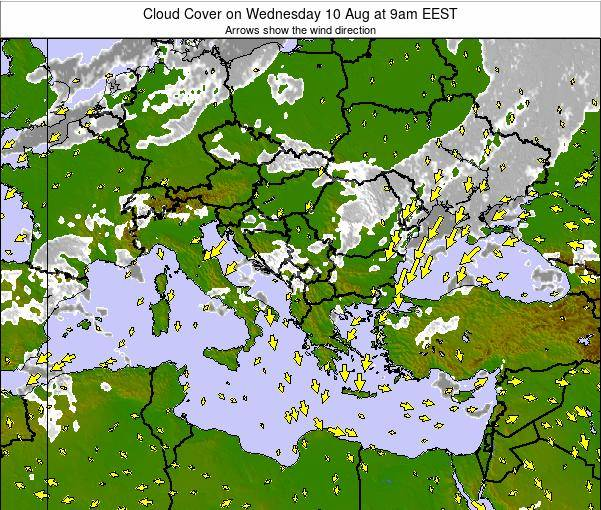 Albania Cloud Cover on Wednesday 24 Sep at 9am EEST