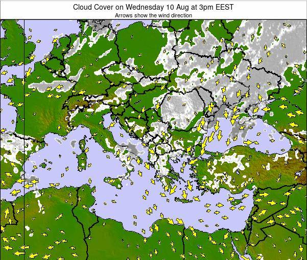 Albania Cloud Cover on Saturday 26 Apr at 3pm EEST