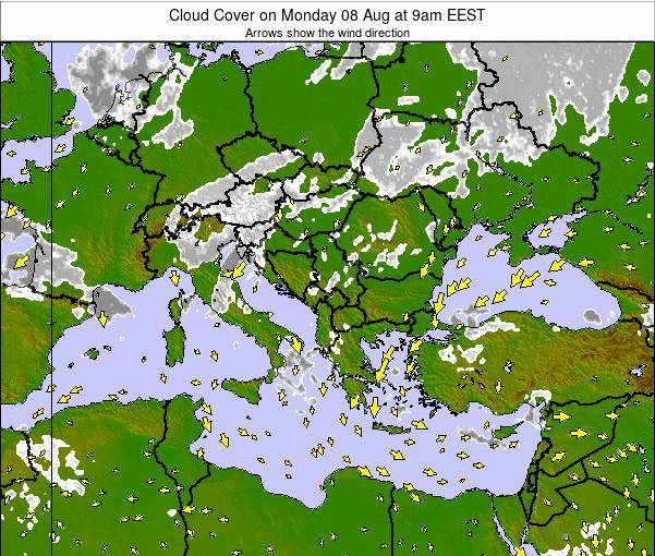 Albania Cloud Cover on Saturday 29 Oct at 9pm EEST