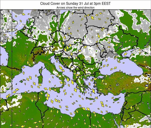 Albania Cloud Cover on Monday 27 May at 3pm EEST