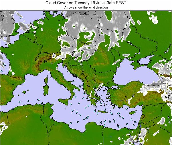 Albania Cloud Cover on Tuesday 22 Apr at 3pm EEST