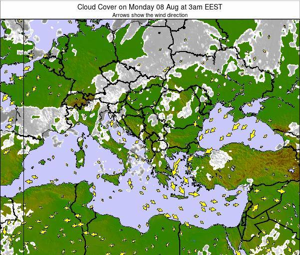 Albania Cloud Cover on Thursday 30 Mar at 9am EEST
