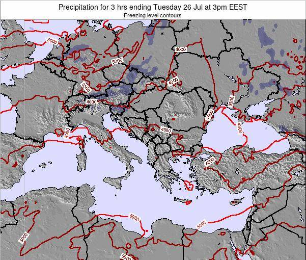 Greece Precipitation for 3 hrs ending Friday 21 Jun at 9pm EEST