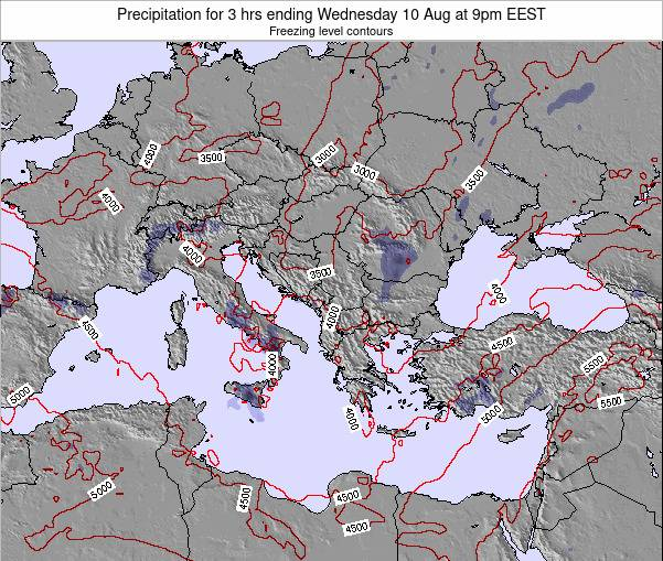 Greece Precipitation for 3 hrs ending Monday 20 May at 9pm EEST