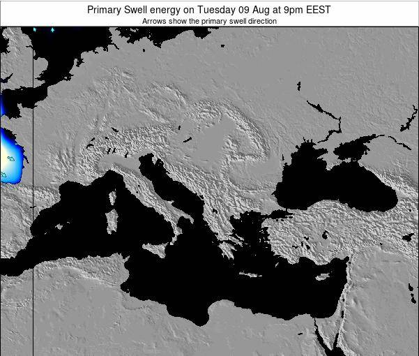Greece Primary Swell energy on Saturday 02 Aug at 3am EEST