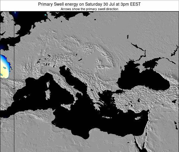 Greece Primary Swell energy on Thursday 30 May at 9am EEST