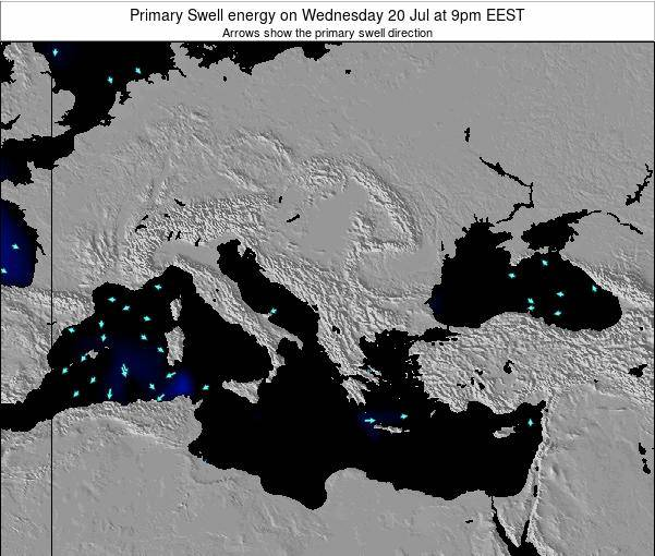 Greece Primary Swell energy on Friday 13 Dec at 8pm EET