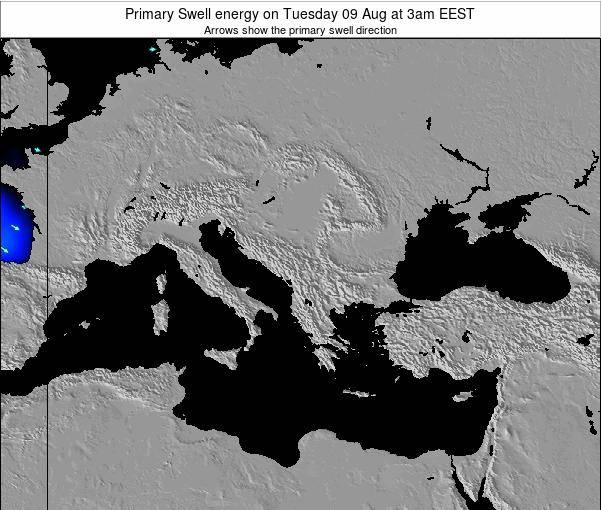 Greece Primary Swell energy on Sunday 24 Aug at 3pm EEST