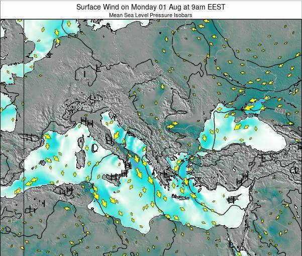 Bulgaria Surface Wind on Friday 24 Feb at 2am EET