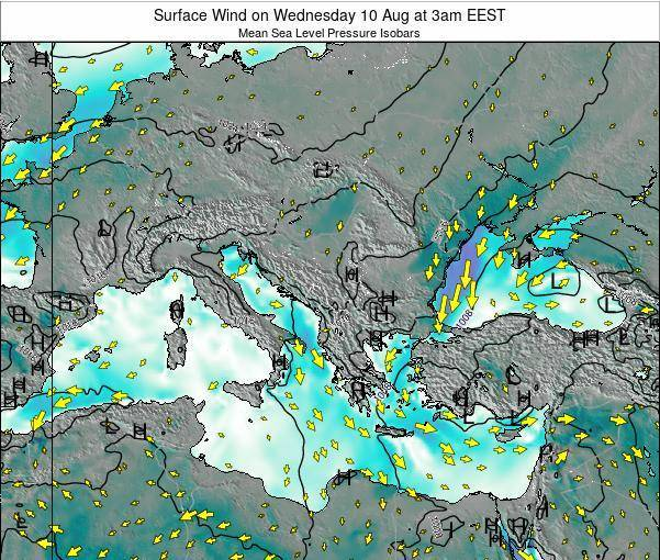 Bulgaria Surface Wind on Wednesday 29 May at 3pm EEST