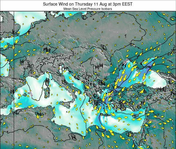 Bulgaria Surface Wind on Thursday 01 May at 9am EEST