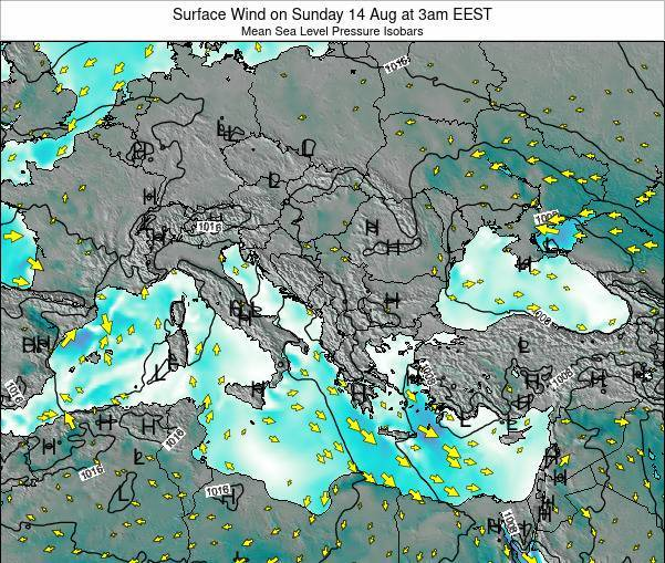 Bulgaria Surface Wind on Monday 17 Mar at 8pm EET