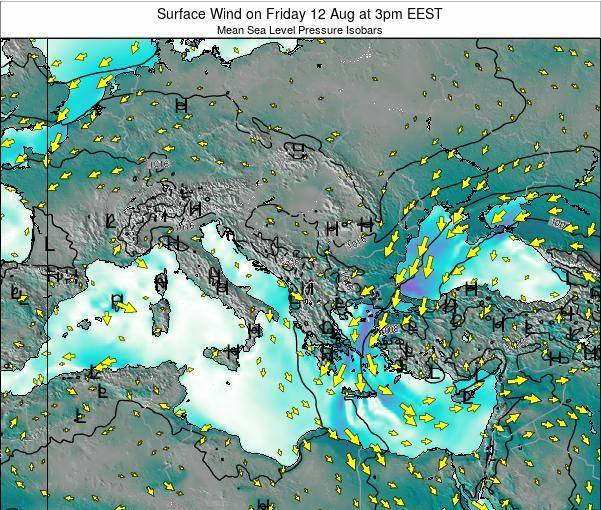 Bulgaria Surface Wind on Thursday 04 Dec at 2pm EET