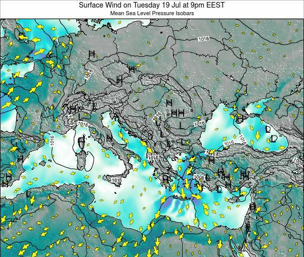 Bulgaria Surface Wind on Sunday 03 May at 3pm EEST