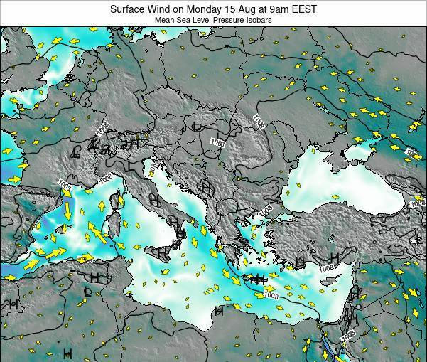 Bulgaria Surface Wind on Tuesday 29 Apr at 3pm EEST