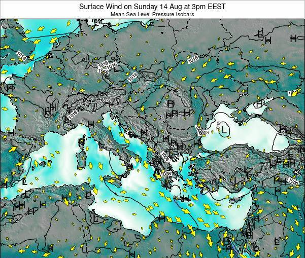 Bulgaria Surface Wind on Wednesday 19 Mar at 2am EET