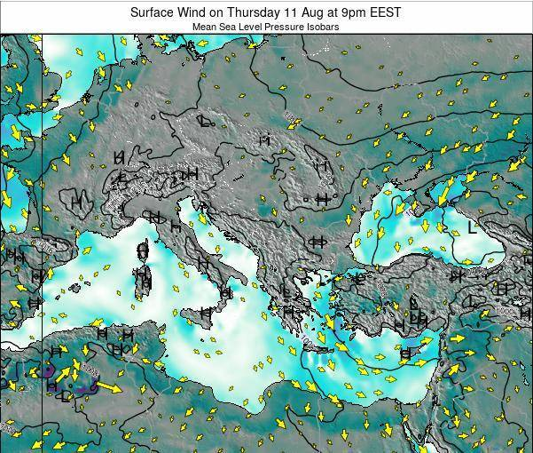 Bulgaria Surface Wind on Wednesday 30 Apr at 9pm EEST